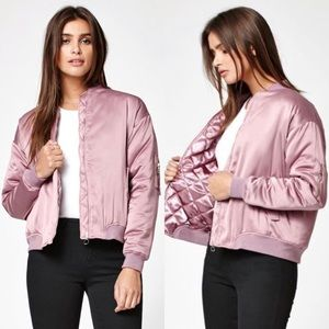 Kendall + Kylie lilac bomber